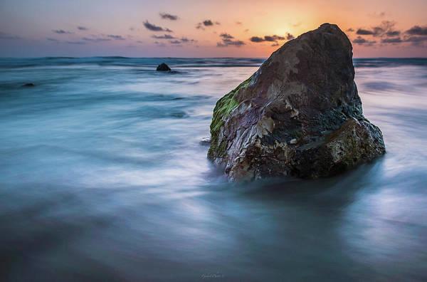 Rocks At Sunset 4 Poster