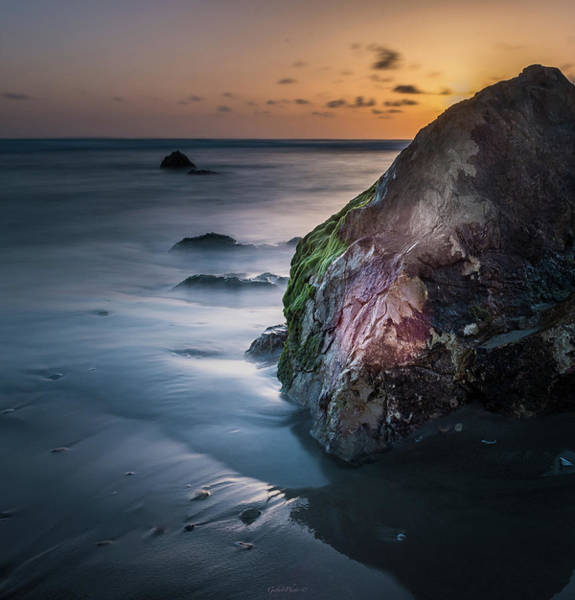 Rocks At Sunset Poster