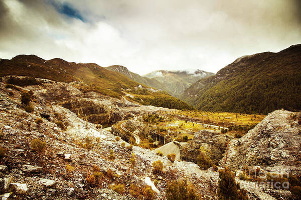 Rocky Valley Mountains Poster