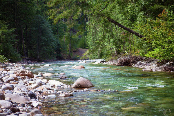 Rocky Waters In The North Cascades Landscape Photography By Omas Poster