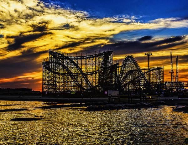 Roller Coaster Sunset Poster