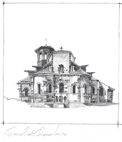 Roman Church At Chamalieres Poster