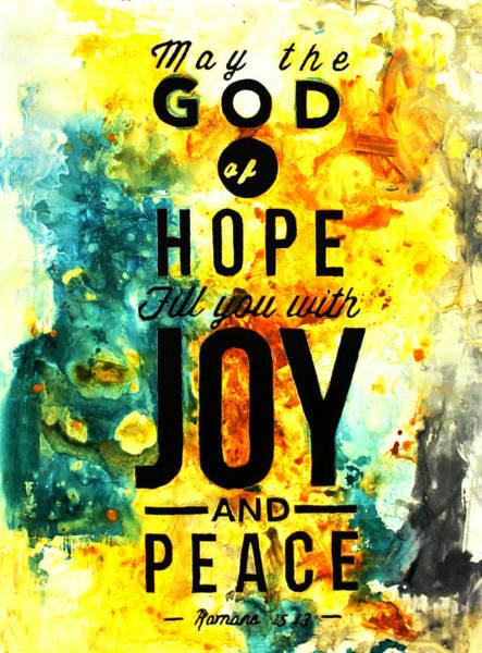 Romans 15 13 Poster