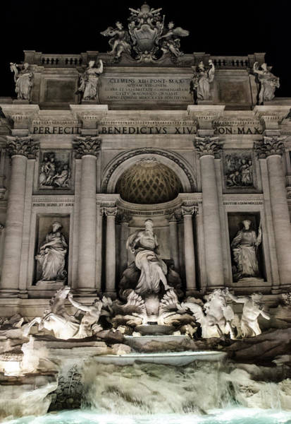 Rome - The Trevi Fountain At Night 3 Poster