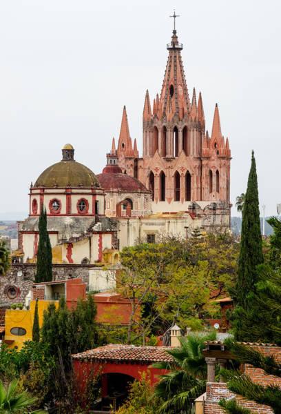Rooftop View Of La Parroquia De San Miguel Arcangel Poster