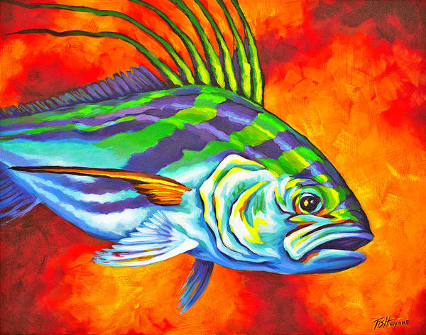 Rooster Fish Poster