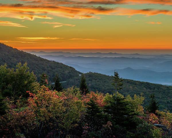Rough Morning - Blue Ridge Parkway Sunrise Poster