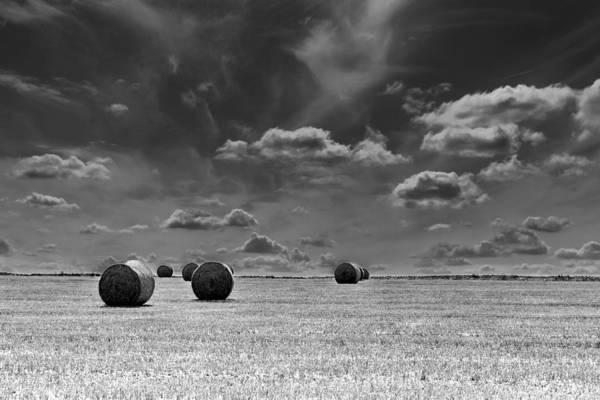 Round Straw Bales Landscape Poster