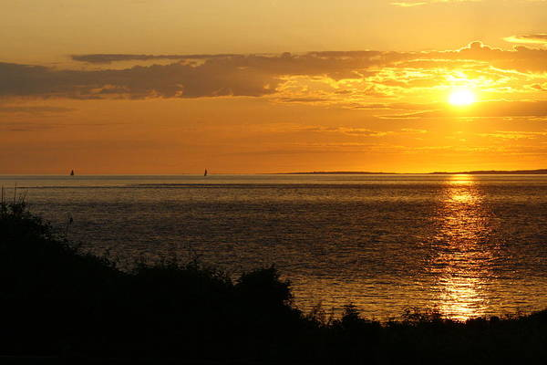 Rounding Block Island At Sunrise Poster