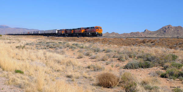 Route 66 Freight Train Poster