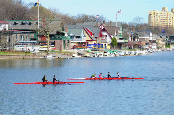 Rowing Along The Schuylkill River Poster