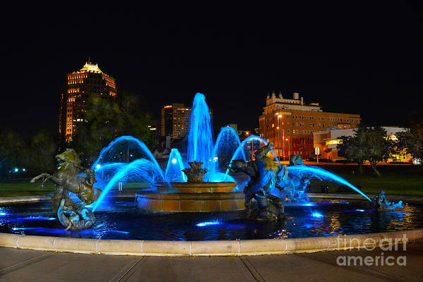 Royal Blue J. C. Nichols Fountain  Poster
