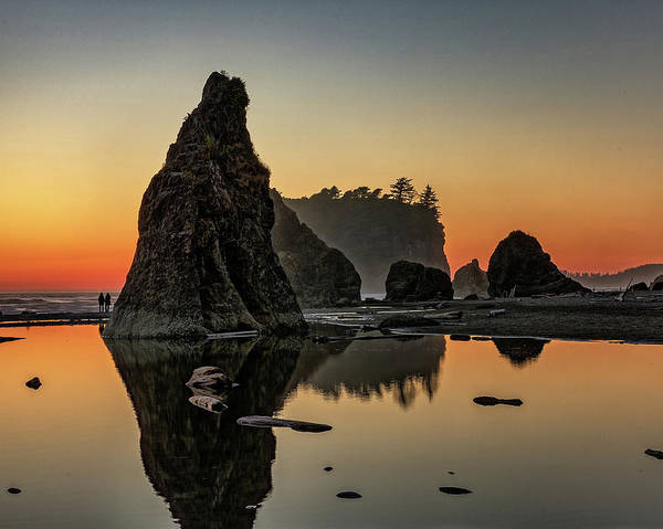Ruby Beach At Sunset Poster