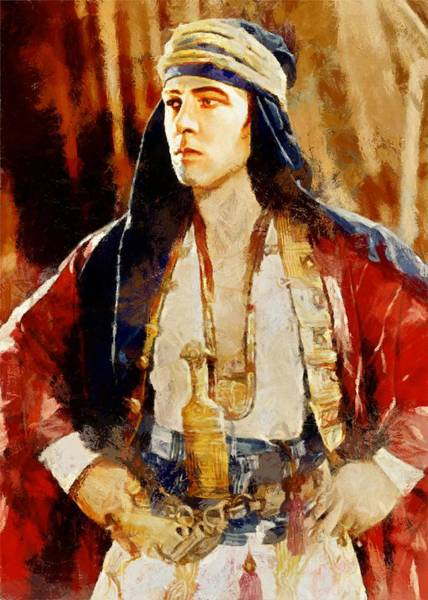 Rudolph Valentino As The Sheikh Poster