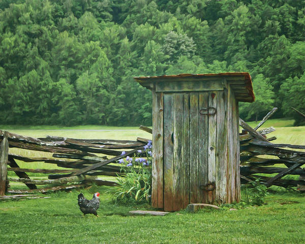 Rural Outhouse Poster