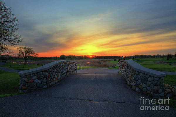 Rush Creek Golf Course The Bridge To Sunset Poster