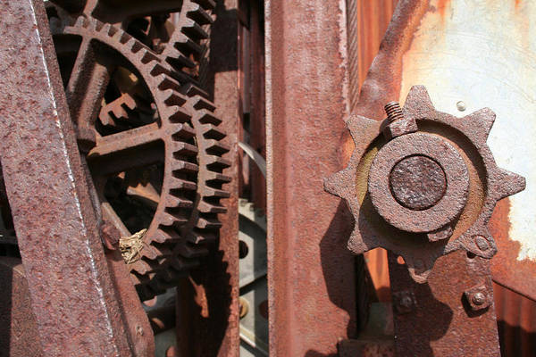 Poster featuring the photograph Rusted Gears by Dylan Punke