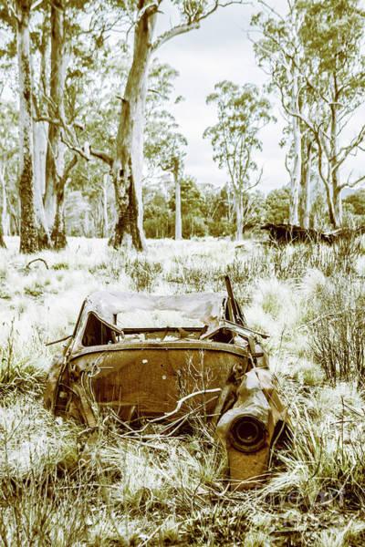 Rustic Australian Car Landscape Poster