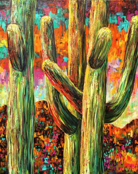 Saguaros At Sunset Poster