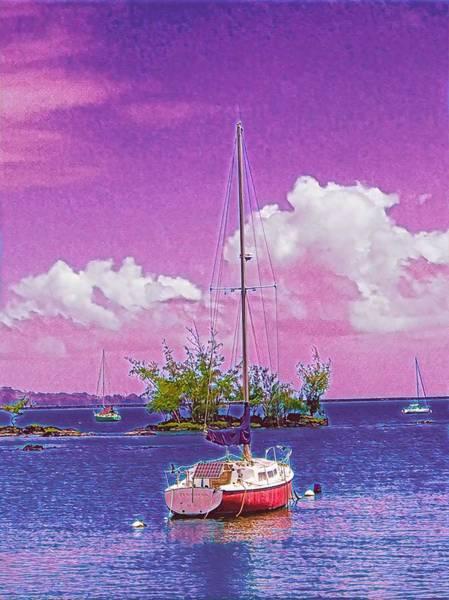 Sailboat At Reeds Bay Hilo Aloha Poster