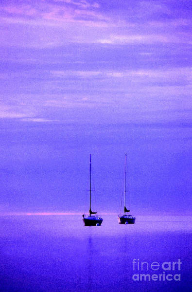 Sailboats In Blue Poster