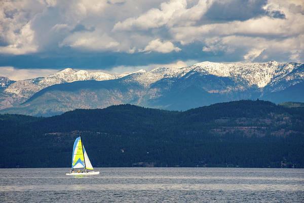 Sailing Flathead Lake Poster