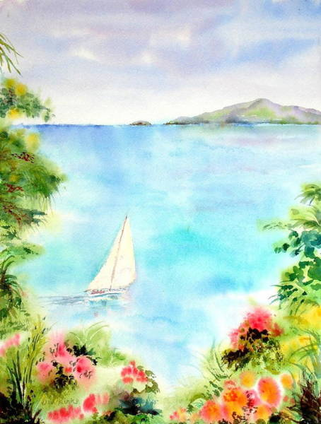 Sailing In The Caribbean Poster