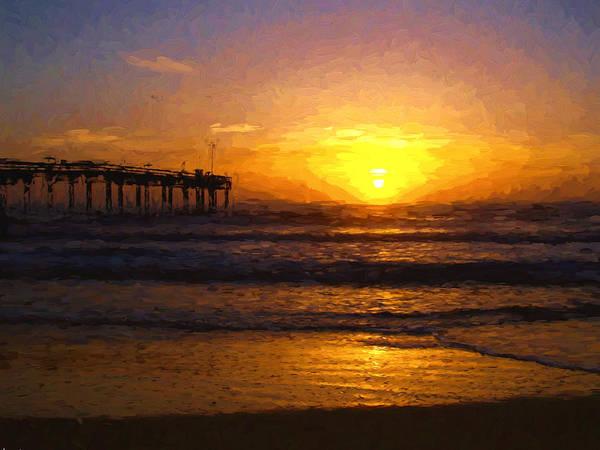 Saint Augustine Beach Sunrise Poster