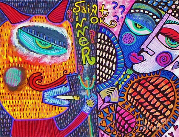-sold- Saint Heart Or Sinner  Poster