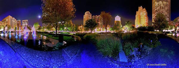 Saint Louis City Garden Panorama Poster