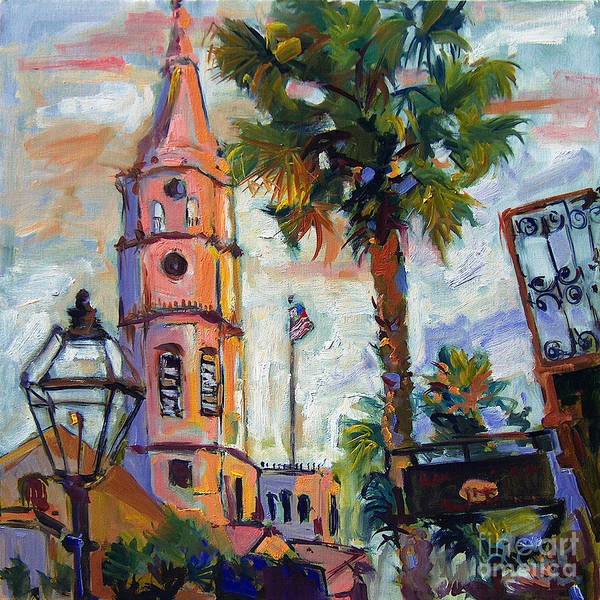 Saint Michaels Church Charleston Sc Oil Painting Poster