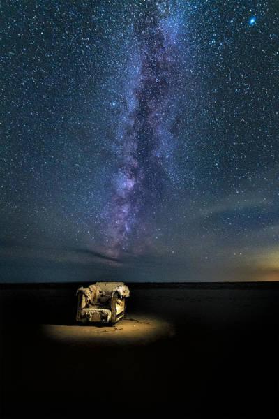 Salt Flats Milky Way Chair Poster