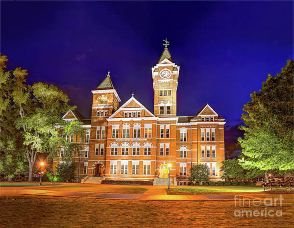 Samford Hall At Night Poster