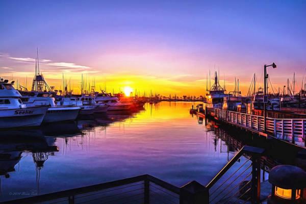 San Diego Harbor Sunrise Poster