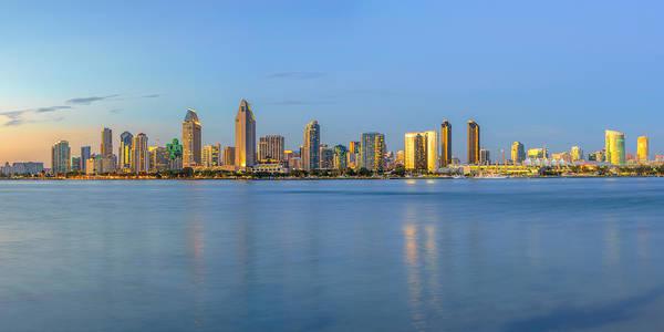 San Diego Skyline At Dusk Poster
