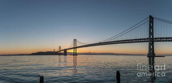 San Francisco Bay Brdige Just Before Sunrise Poster