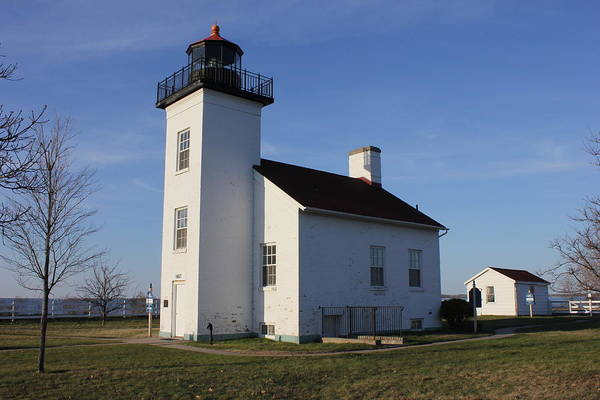 Sand Point Lighthouse In Escanaba Poster