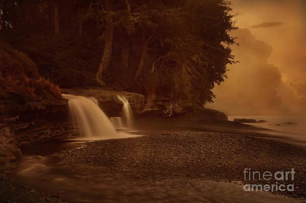 Sandcut Beach Waterfalls  Poster