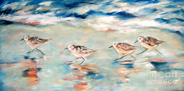 Sandpipers Running Poster
