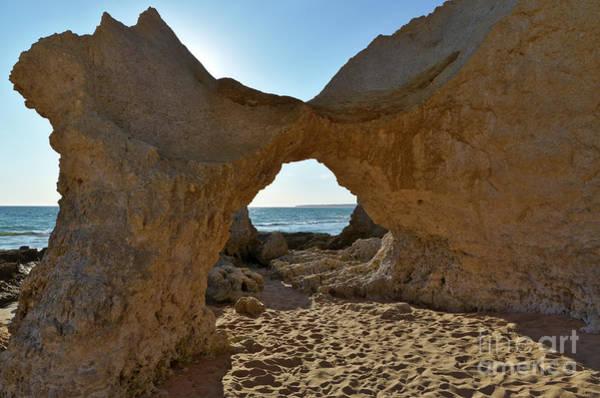 Sandstone Arch In Gale Beach. Algarve Poster
