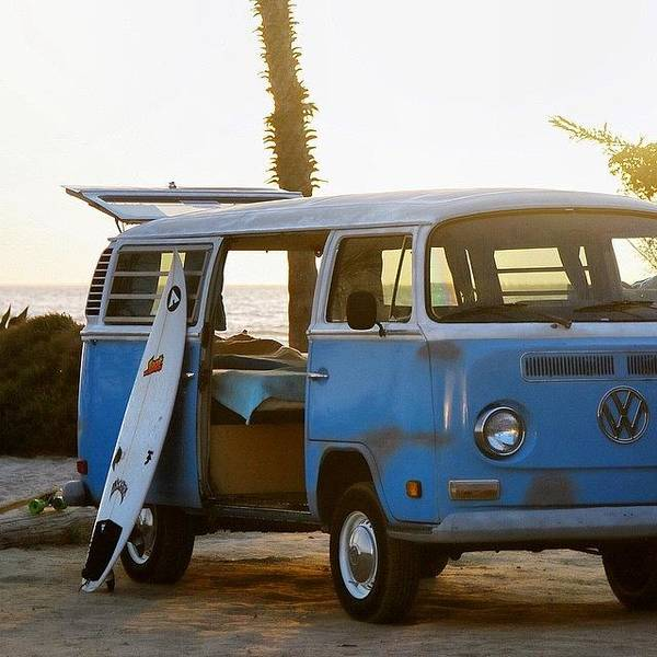 Vw And Surfboard Poster