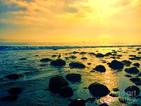 Santa Barbara California Ocean Sunset Poster