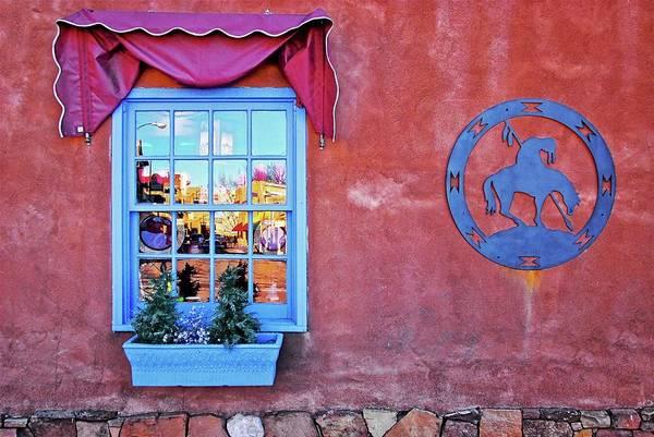 Santa Fe Street Reflection Poster