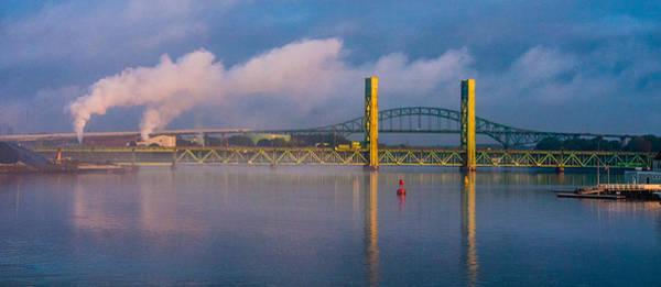 Sarah Long Bridge At Dawn Poster