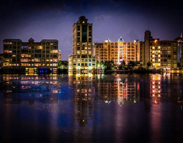 Sarasota Bay After Dark Poster