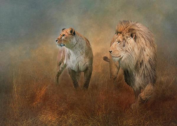 Savanna Lions Poster