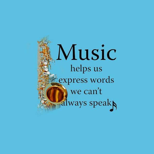 Saxophones Express Words Poster