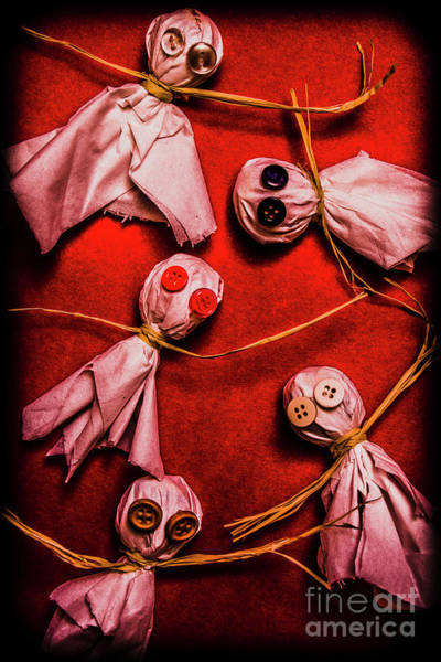 Scary Halloween Lollipop Ghosts Poster