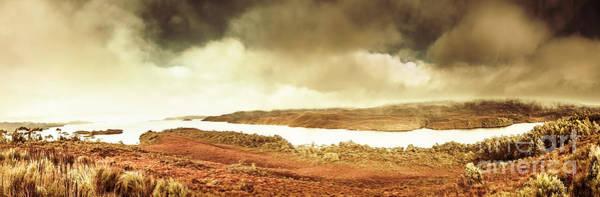 Scenic Southwest Tasmania Lakes Poster