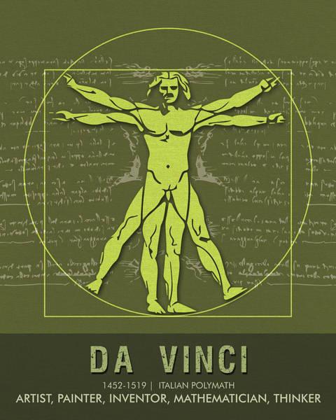 Science Posters - Leonardo Da Vinci - Artist, Inventor, Mathematician Poster